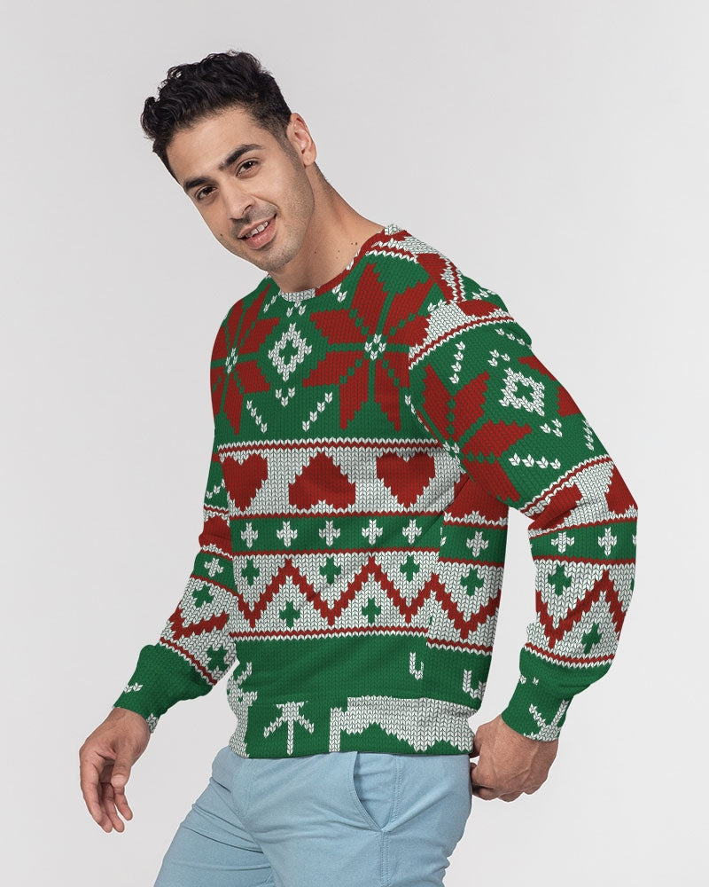 My Deer Men's Classic French Terry Crewneck Pullover