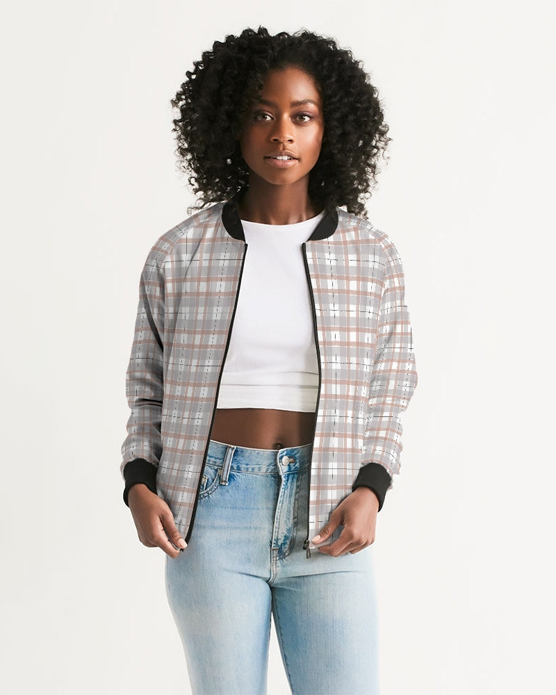 Plants On Plaid Women's Bomber Jacket