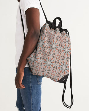 Blooming Flowers Canvas Drawstring Bag