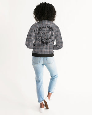 Classical Plaid Women's Bomber Jacket