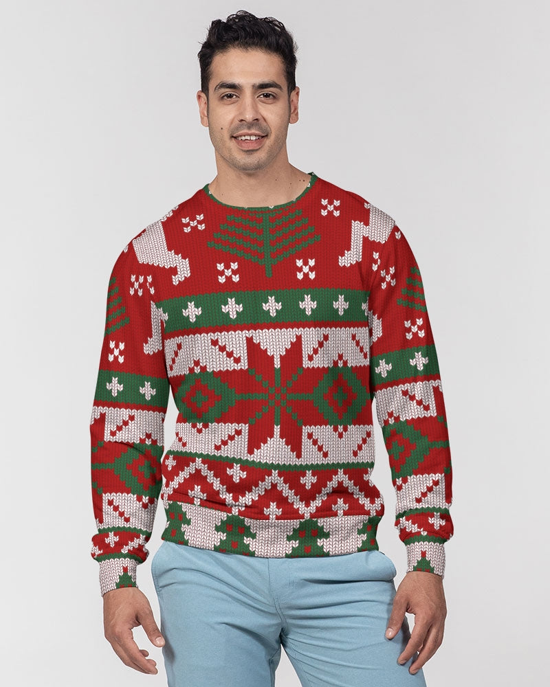 Oh Deer Men's Classic French Terry Crewneck Pullover