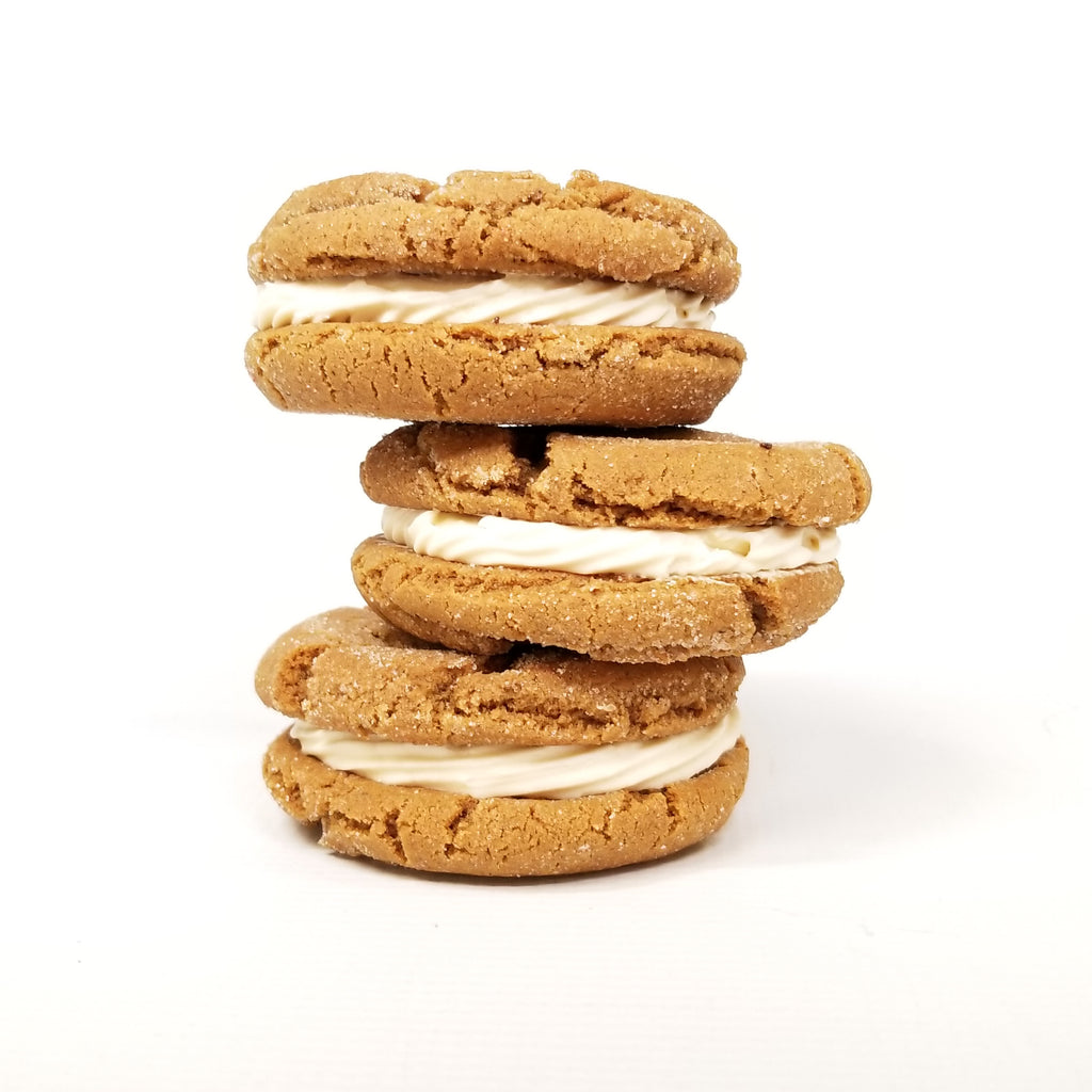 Ginger Salted Caramel Cookie Sandwich