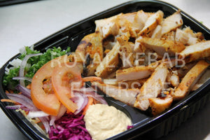 Chicken Savalaki on Salad