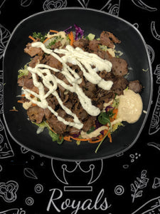Lamb Kebab on Salad