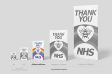 Load image into Gallery viewer, 'Thank you NHS' Sign Board - 600mm x 424mm (2 Colours) - Aluminium only