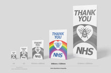 Load image into Gallery viewer, 'Thank you NHS' Sign Board - 1200mm x 848mm (2 Colours) - Aluminium only