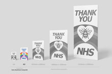 Load image into Gallery viewer, 'Thank you NHS' Sign Board - A3 Size (2 Colours) - PVC or Aluminium