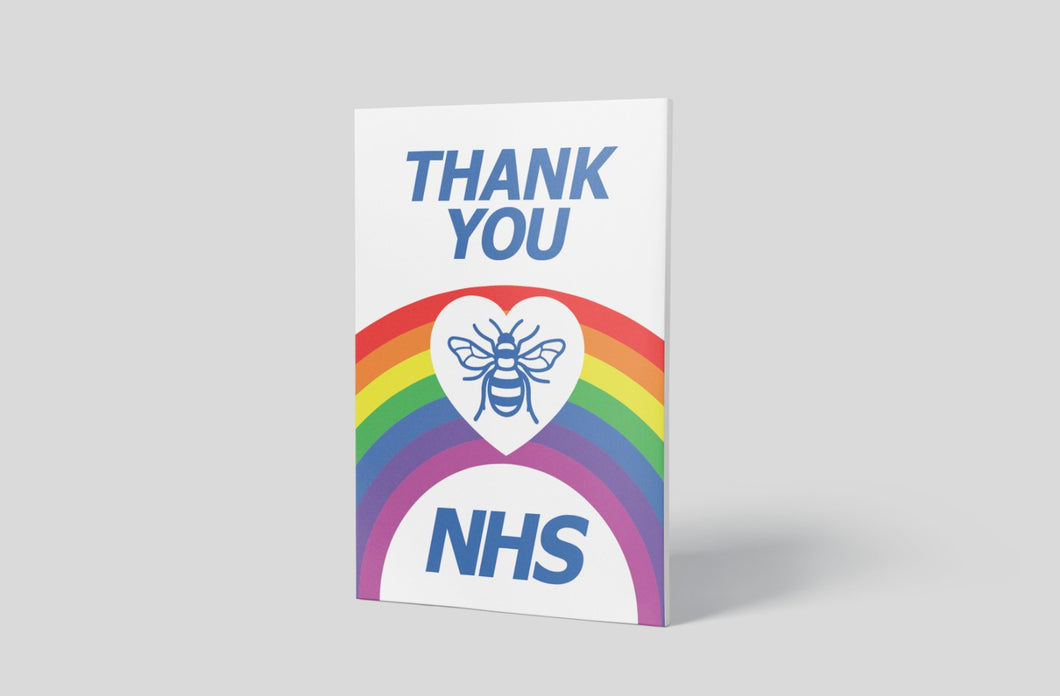 'Thank you NHS' Sign Board - 1200mm x 848mm (2 Colours) - Aluminium only
