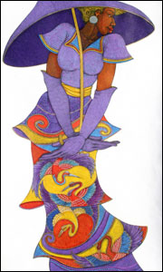 The Purple Umbrella - Charles Bibbs