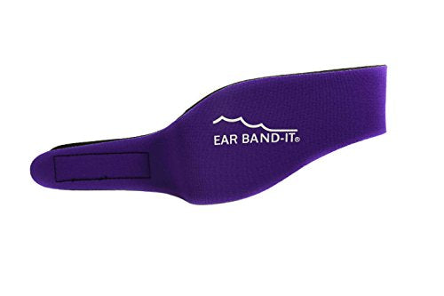 Ear Band-It Swimming Headband - Invented by Physician - Keep Water Out, Hold Ear Plugs in - The Original Swimmer's Headband - Doctor Recommended - Secure Earplugs (Purple, Medium (Ages 4-9))