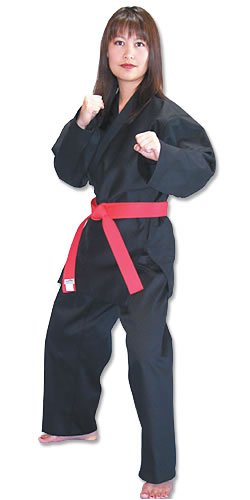Tiger Claw Traditional Karate Uniform (Black, 6)