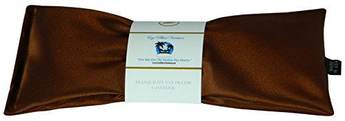 Lavender Eye Pillow - Migraine, Stress & Anxiety Relief - #1 Stress Relief Gifts for Women - Made in The USA, Organic Flax Seed Filled (Copper - Ultra Silky Satin)