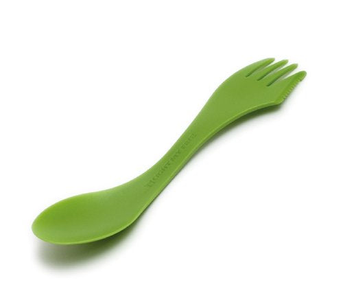 Light My Fire Original BPA-Free Tritan Spork with Full-Sized Spoon, Fork and Serrated Knife Edge, Green