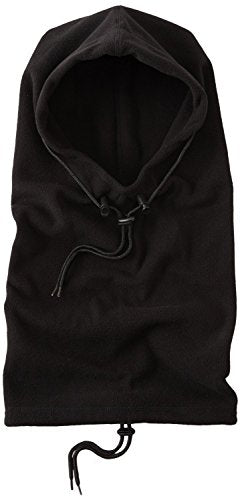 Hot Headz Polarex 6-in-1 Fleece Hoodie, Black, One Size
