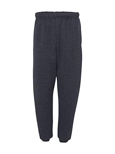 Jerzees Men's Super Sweatpants with Pocket (Black Heather/Medium)