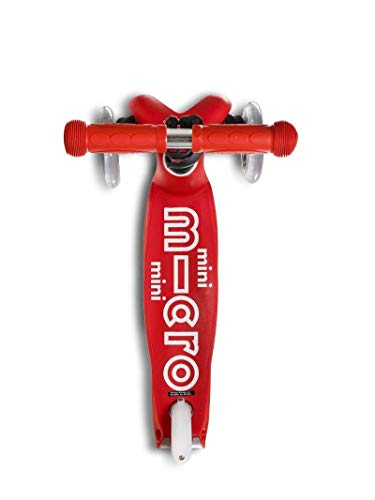 Micro Mini Deluxe 3-Wheeled, Lean-to-Steer, Swiss-Designed Micro Scooter for Kids, Ages 2-5 - Red