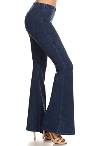 Zoozie LA Women's Bell Bottoms High Waist, Blue, X-Large/1X-Large