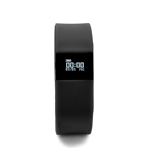 BlueWeigh Rainbow Fitness Activity Tracker with Sleep Monitor, Black