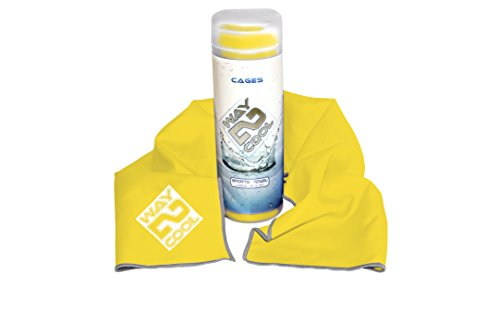 Way 2 Cool Microfiber Cooling Towel for Yoga, Gym, Swimming and Gargening Blue and Yellow