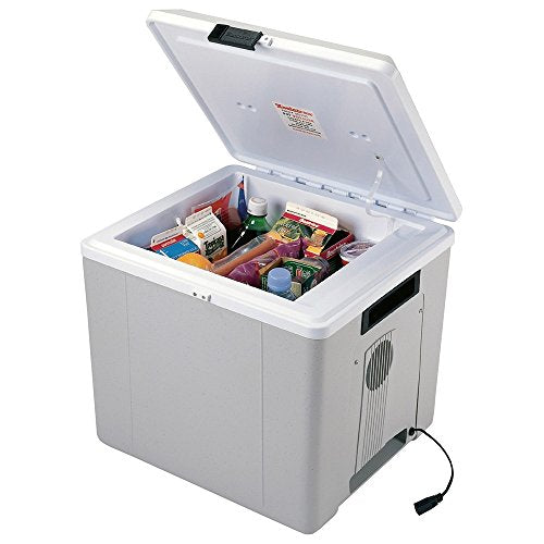 Travel Cooler And Warmer. 27.5 Liter (29 Quart) 12 Volt Thermoelectric Iceless Fridge. Perfect For Y