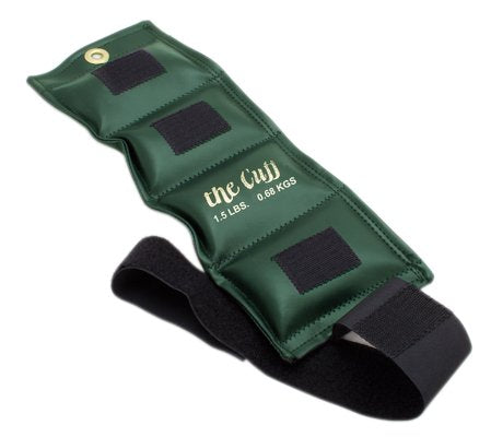 The Deluxe Cuff Ankle and Wrist Weight - 1.5 lb - Olive