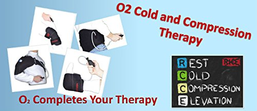 O2 Cold Therapy Shoulder Brace with Ice Pack and Air Compression Wrap, Universal