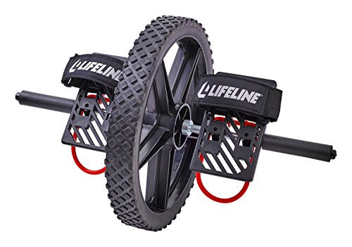Lifeline Power Wheel For At Home Full Body Functional Fitness Strength Including Abs & Core, Lower B
