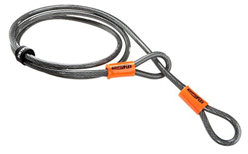 Kryptonite Evolution Mini-7 Bicycle U-Lock w/ 4' KryptoFlex Double Loop Cable