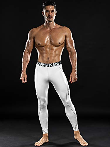 Drskin Menâ??S Compression Cool Dry Sports Tights Pants Baselayer Running Workout Active Leggings Yo