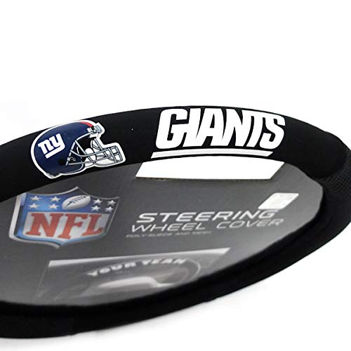 Fremont Die Nfl Houston Texans Poly Suede Steering Wheel Cover, Fits Most Standard Size Steering Whe