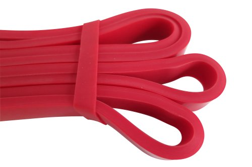 "WODFitters Stretch Resistance Pull Up Assist Band with eGuide, #1 Red- 10 to 35 Pounds (1/2 ""4.5mm)"