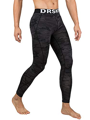 Drskin 1, 2 Or 3 Pack Menâ??S Compression Pants Dry Cool Sports Baselayer Running Workout Active Tig