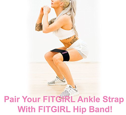 FITGIRL - Fitness Padded Ankle Strap (Black)
