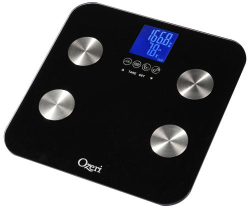 Ozeri Touch 440 lbs Total Body Bath Scale - Measures Weight, Fat, Muscle, Bone & Hydration with Auto Recognition and Infant Tare Technology