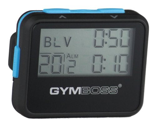 Gymboss Interval Timer and Stopwatch - Black/Blue SOFTCOAT