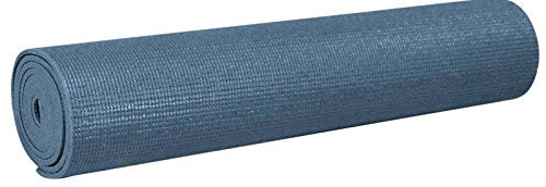 YogaAccessories 1/8'' Lightweight Classic Yoga Mat and Exercise Pad - Slate Blue