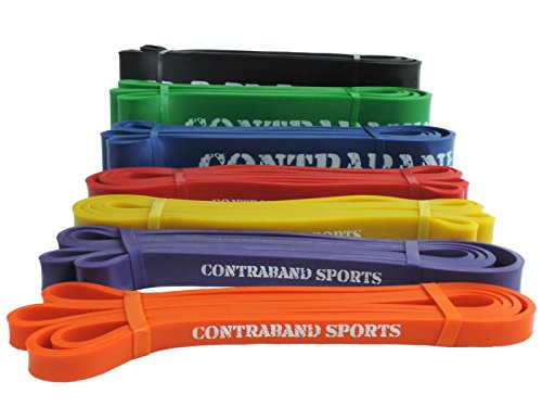 Contraband Sports 7419 41in Loop Elastic Resistance Bands, Weight Lifting Bands, Powerlifting Bands,