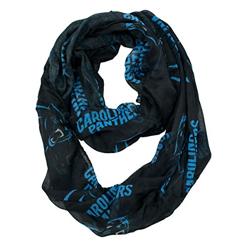 Little Earth NFL Carolina Panthers Sheer Infinity Scarf, Black