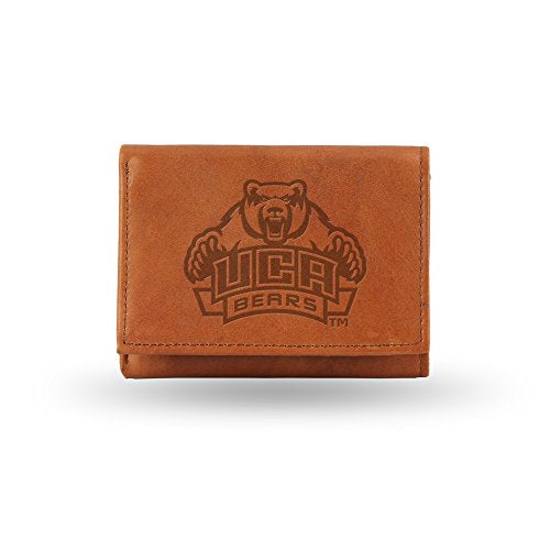 NFL Pittsburgh Steelers Embossed Leather Trifold Wallet, Tan