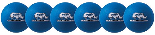 Champion Sports Rhino Skin Dodgeball (Set of 6, Neon Blue, 6