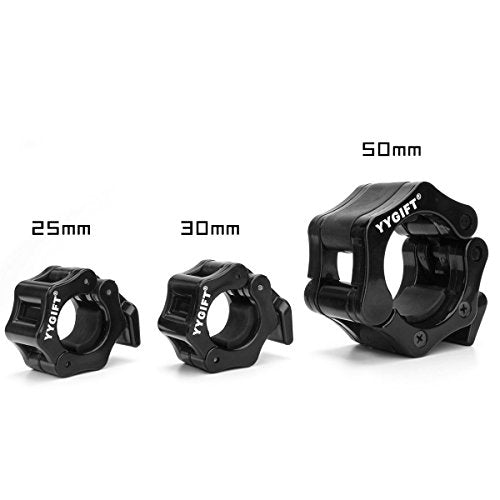 "YYGIFT Quick Release Pair of Locking 2"" Olympic Size Barbell Clamp Collar Great for Pro Crossfit Training"