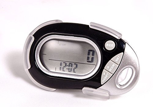 Pedusa PE-771 Tri-Axis Multi-Function Pocket Pedometer - Black With Holster/Belt Clip