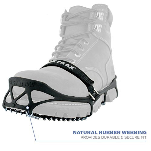 YakTrax 8613 Pro Traction Cleats for Walking, Jogging, or Hiking on Snow and Ice, Large
