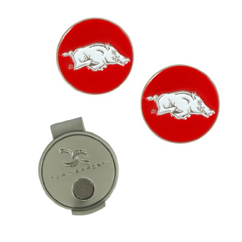 Team Effort Arkansas Razorbacks Hat Clip & 2 Ball Markers