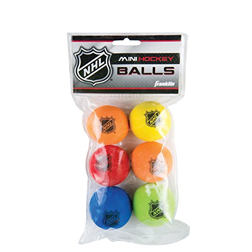 Franklin Sports Mini Foam Hockey Balls   Knee Hockey Balls For Kids   6 Soft Foam Mini Hockey Balls