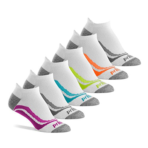 Prince Women's Tab Performance Athletic Socks for Running, Tennis, and Casual Use (Pack of 6) - White, Womens Size 6-10