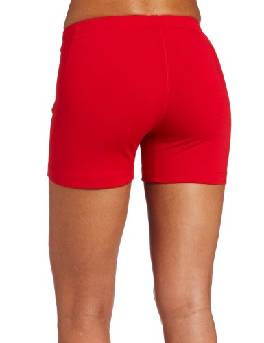 ASICS Women's Baseline Volleyball Shorts, Red, XX-Large