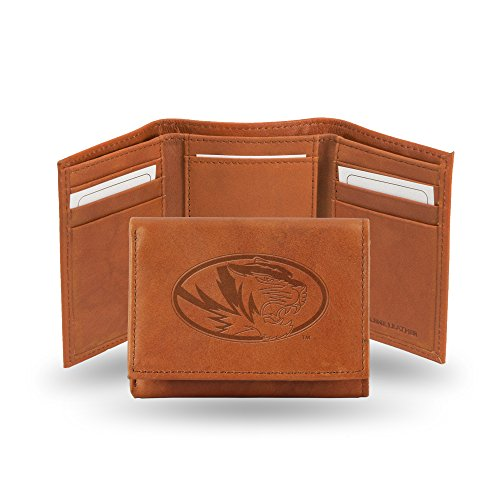 Ncaa Rico Industries  Embossed Leather Trifold Wallet, Missouri Tigers