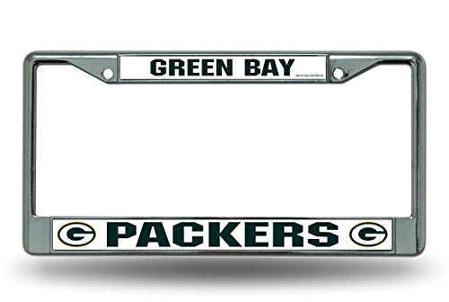 Rico Industries NFL Green Bay Packers Standard Chrome License Plate Frame