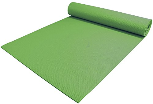 "YogaAccessories 1/4"" Thick High-Density Deluxe Non-Slip Exercise Pilates & Yoga Mat, Jasmine Green"